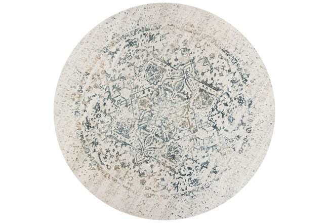 91 Inch Round Rug-Antique Graphite - 360