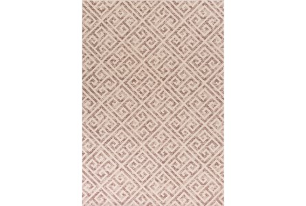 79X114 Rug-Faded Greek Key Taupe