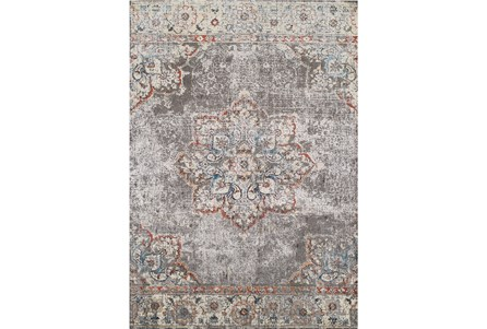 94x127 Rug Silver Bohemian Medallion Living Spaces