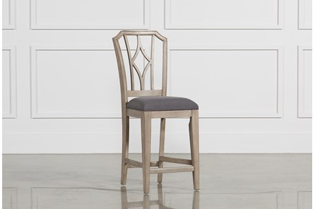 Caira Upholstered Diamond Back Counter Stool
