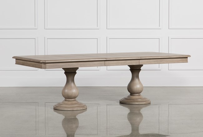 Caira Extension Pedestal Dining Table - 360