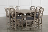 Caira 9 Piece Extension Counter Set W/Diamond Back Stool - Left