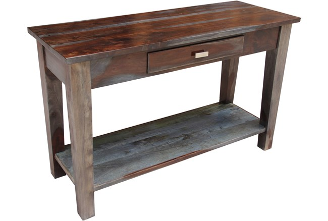 Pacific Steel Finish  Console Table - 360
