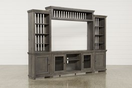 Sinclair Grey 4 Piece Entertainment Center