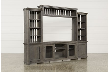 Sinclair Grey 4 Piece Entertainment Center - Main