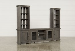 Sinclair Grey 3 Piece Entertainment Center