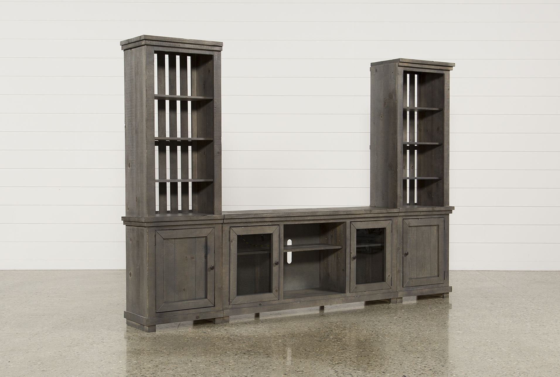 Display Product Reviews For KIT SINCLAIR GREY 3 PIECE ENTERTAINMENT CENTER