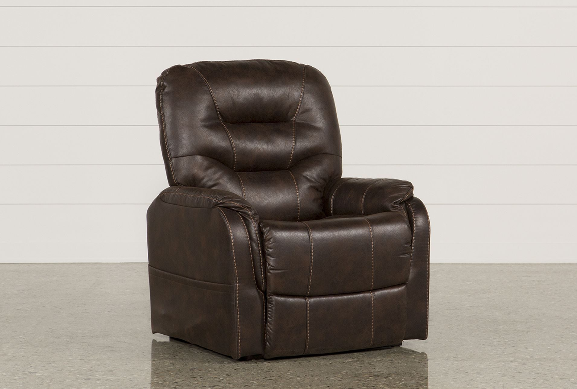 Brantly Walnut Power-Lift Chair - 360 & Brantly Walnut Power-Lift Chair | Living Spaces