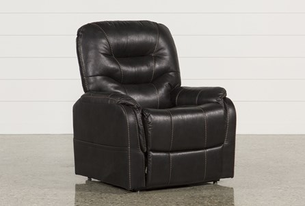 Brantly Black Power-Lift Chair