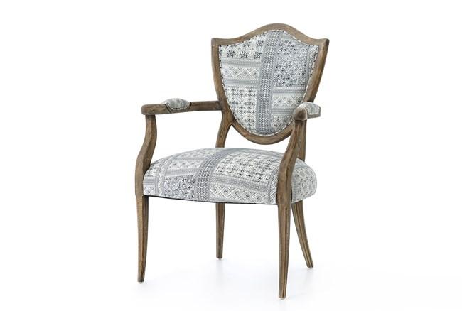 Oak & Indigo Fabric Dining Chair - 360
