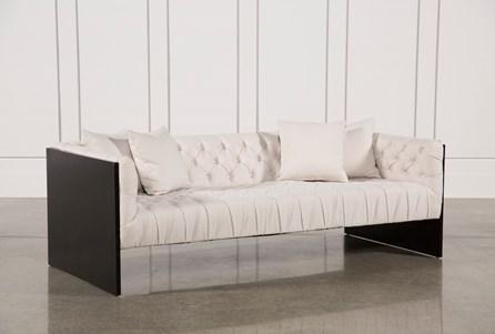 Tufted Wood Frame Sofa