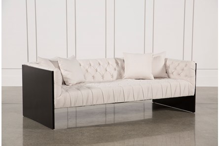 Tufted Wood Frame Sofa - Main