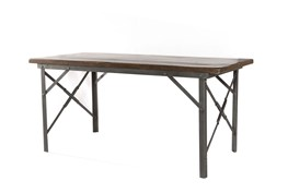 Iron And Wood Writing Desk