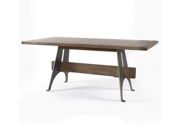 Mango Wood/Iron Desk - 360