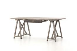 Wood & Iron Trestle Desk