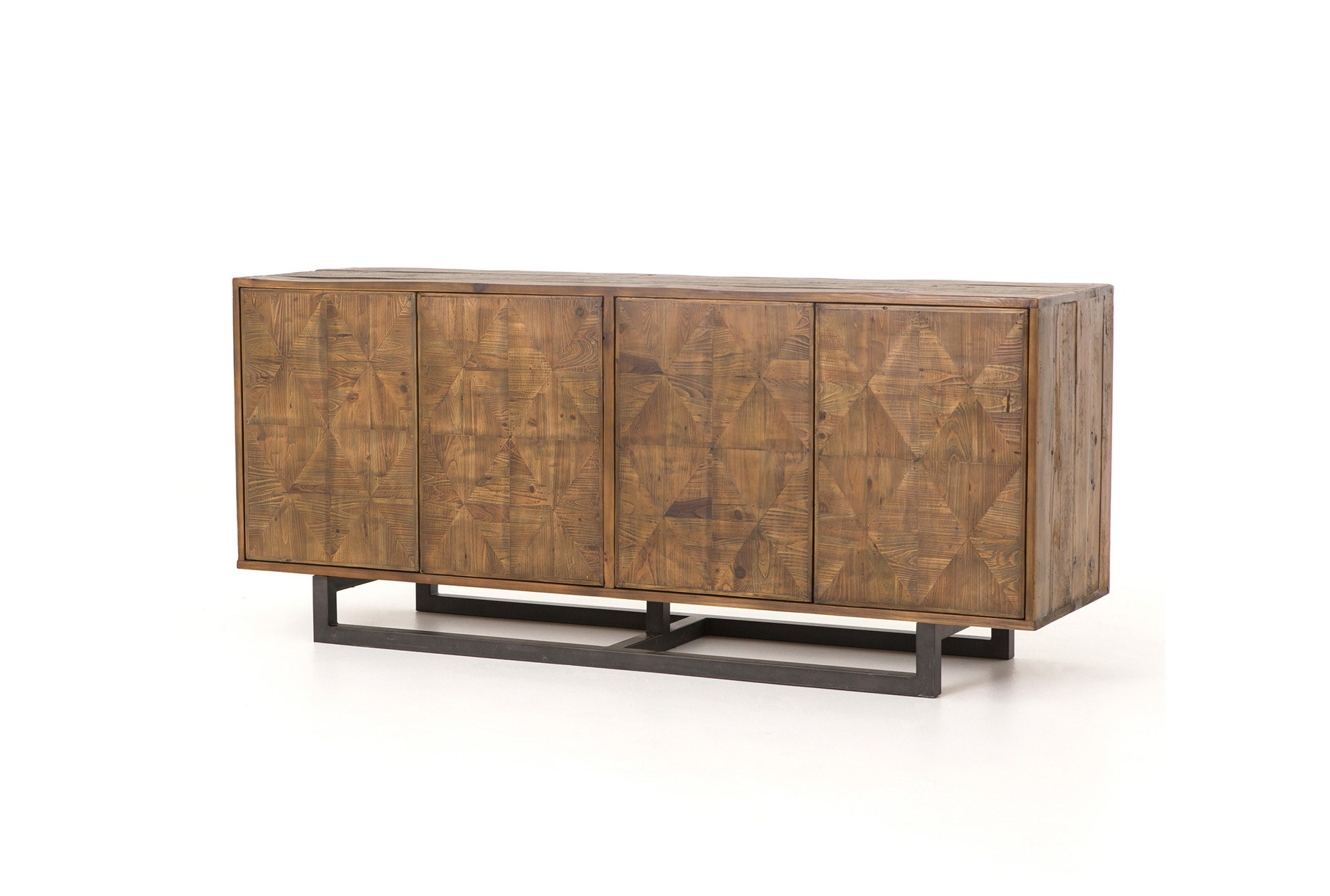 Reclaimed Pine Iron 72 Inch Sideboard