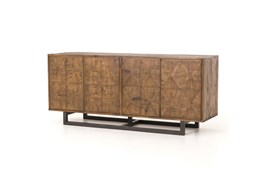 Reclaimed Pine & Iron 72 Inch Sideboard