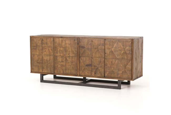 Reclaimed Pine & Iron 72 Inch Sideboard - 360