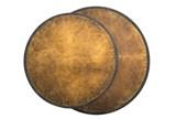 Iron & Brass Nesting Tables - Top