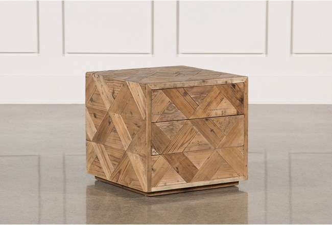 Reclaimed Pine Side Table - 360
