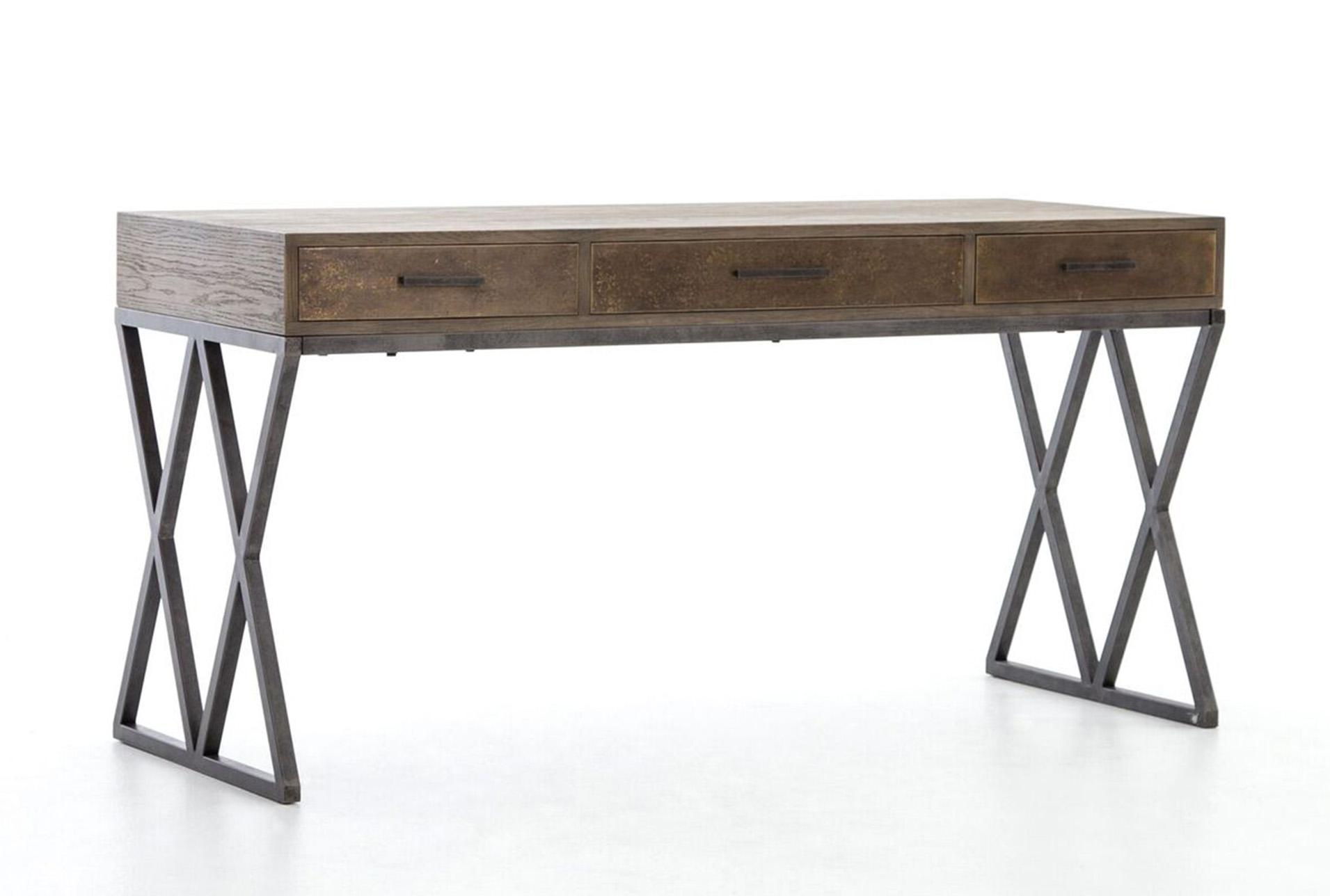 Oak Amp Iron Desk Living Spaces