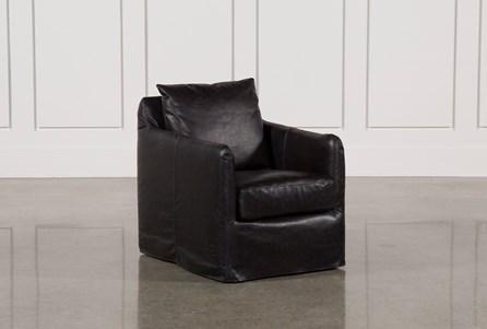 Leather Black Swivel Chair
