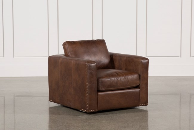 Leather Swivel Chair - 360