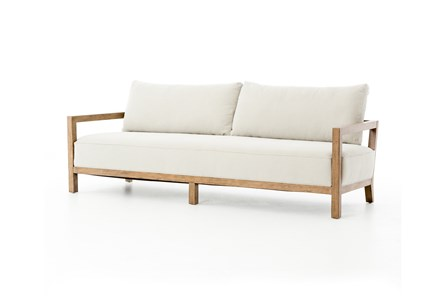 Rubberwood & Fabric Sofa - Main