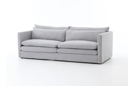 Poplar & Fabric 84 Inch Sofa