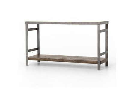 Mango Wood & Iron Console Table