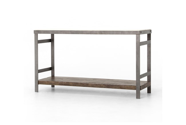 Mango Wood & Iron Console Table - 360