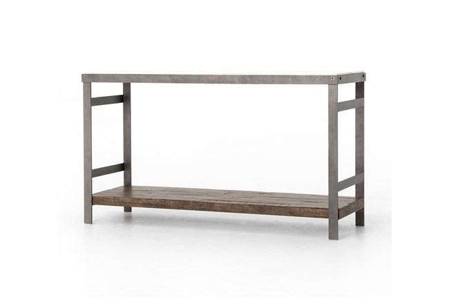 Mango Wood & Iron Console Table - 360