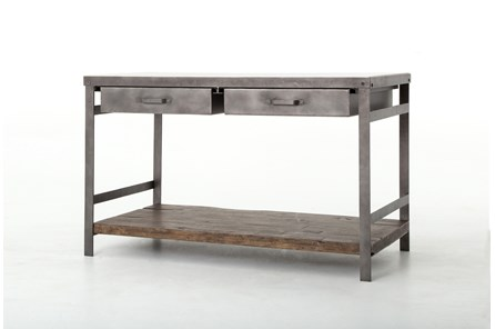 Mango Wood & Iron Kitchen Island - Main