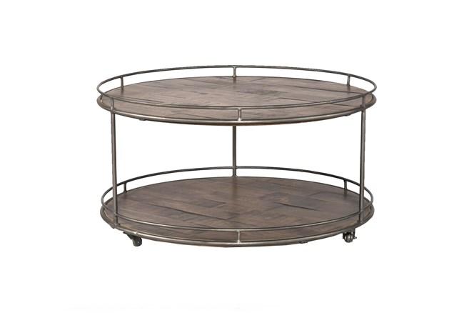 Mango Wood & Iron Coffee Table - 360