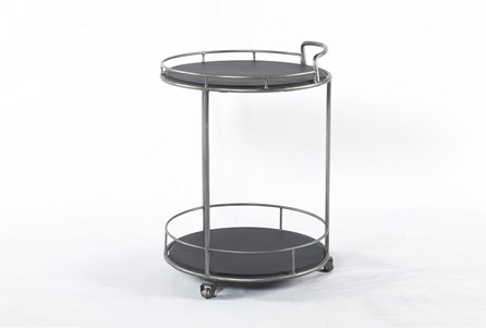 Iron & Black Slate Bar Cart