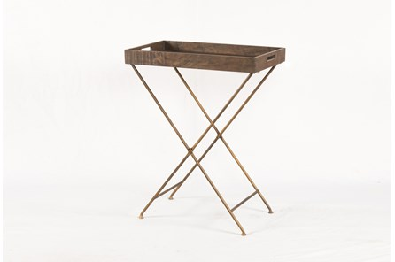 Weathered Hickroy Tray Table - Main