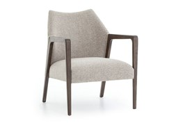 Oak & Fabric Accent Chair