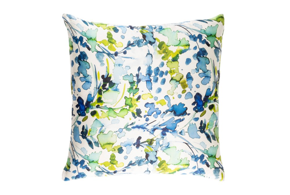 Accent Pillow-Watercolor Leaves Blue 18X18
