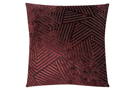 Accent Pillow-Viscosity Burgundy 18X18