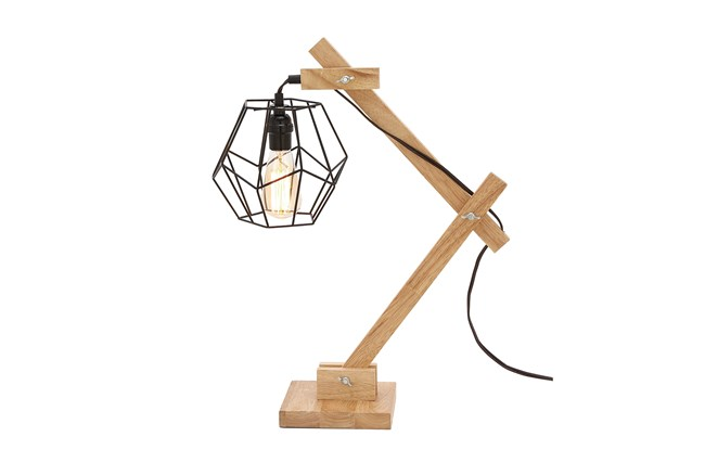 Table Lamp-Wood Industrial - 360