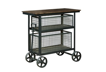Metal Accent Cart