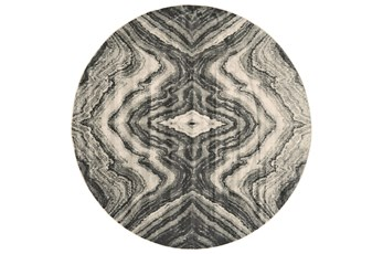 8' Round Rug-Grey Bookmatch Agate