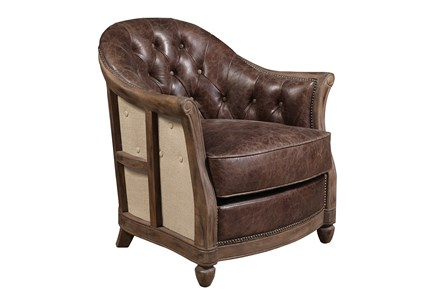 Godwin Leather Accent Chair