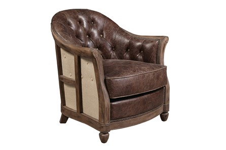 Godwin Leather Accent Chair - Main