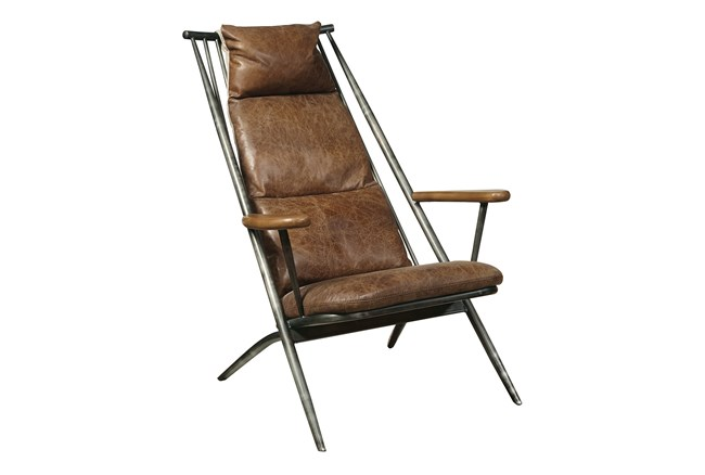 Guy Leather Accent Chair - 360
