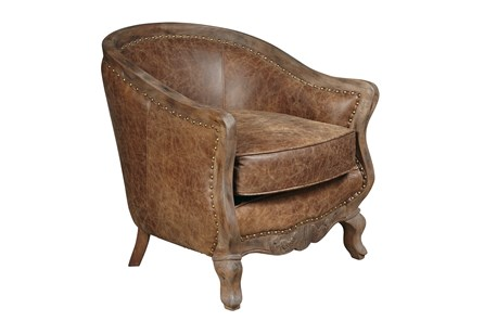 Theobald Leather Accent Chair - Main