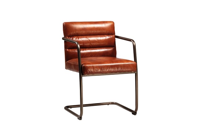 Cow Leather Accent Chair - 360