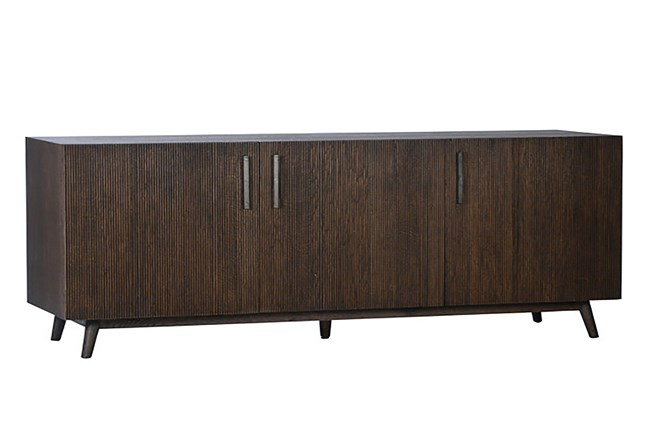 Brown Wood 72 Inch Sideboard - 360