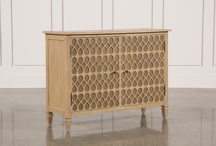 Natural Oak Wood 2-Door Sideboard