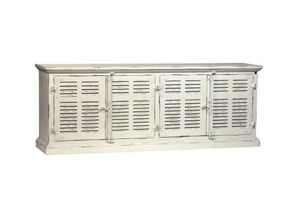 Frozen White Finish Sideboard